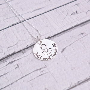 Bald and Beautiful, Alopecia, Cancer Awareness Necklace - Sweet Tea & Jewelry
