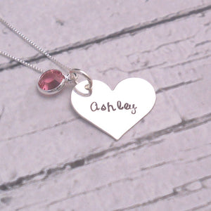 Sterling silver personalized heart necklace - Sweet Tea & Jewelry