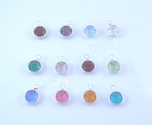 Sterling Silver Cupped Mothers Necklace With Kids Names, Birthstone options