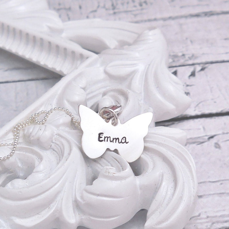 Sterling Silver Butterfly necklace - Delena Ciastko Designs