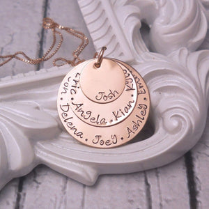 Rose gold filled personalized kids name necklace, Personalized Mothers Necklace - Sweet Tea & Jewelry