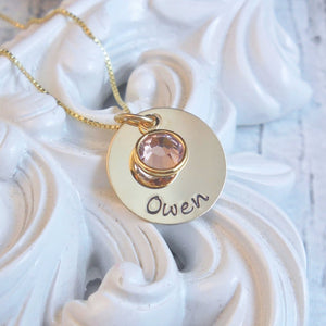 Custom Name Necklace, 14kt Gold Filled - white background