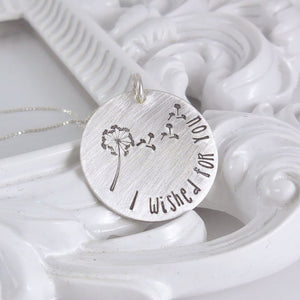 Sterling silver I wished for you necklace - Sweet Tea & Jewelry