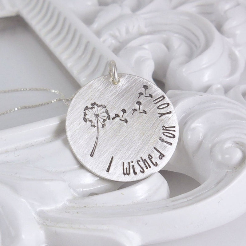 Sterling silver I wished for you necklace - Delena Ciastko Designs