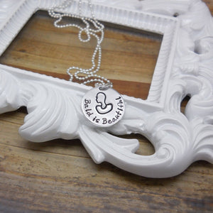 Bald is Beautiful Cancer Awareness Necklace