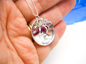 Grandmother Necklace with Birthstones | Custom Necklace, In Hand