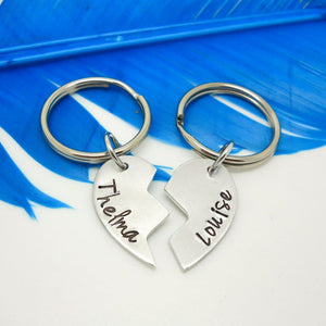 Thelma and Louise 2 piece key chain set - Sweet Tea & Jewelry