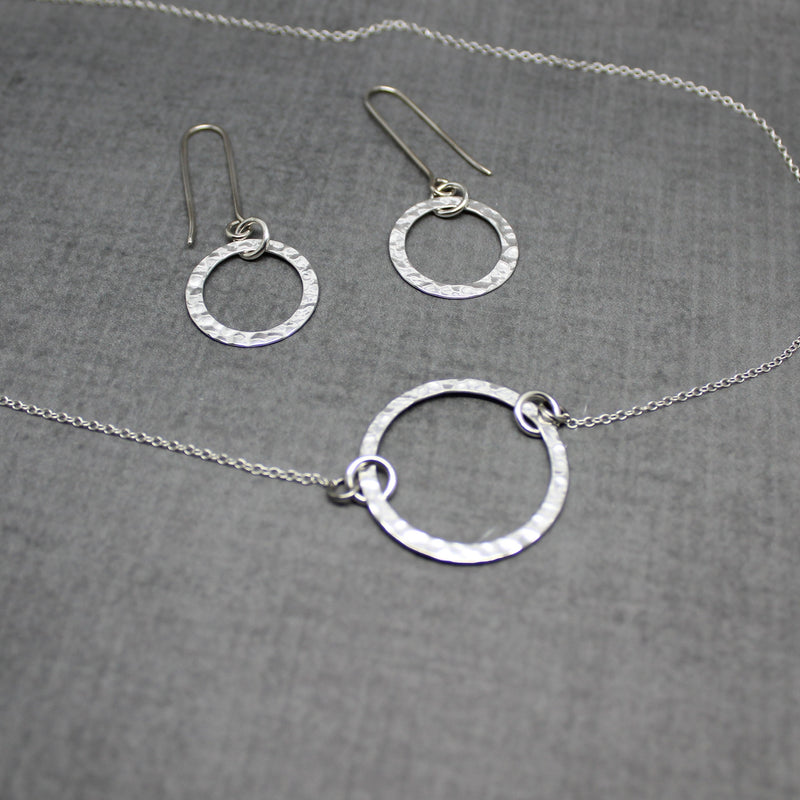 Sterling silver Karma earrings style #2