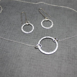 Sterling silver Karma necklace #2