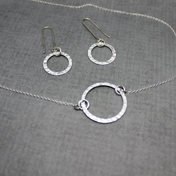 karma necklace and earrings gift set