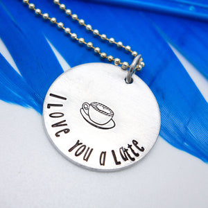 I Love You a Latte Necklace | Coffee Necklace