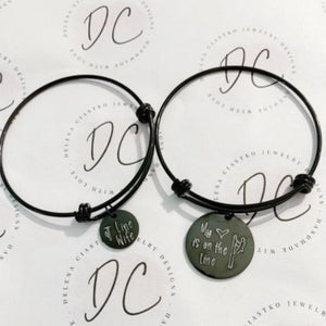 My heart is on the line, lineman, line wife bracelet