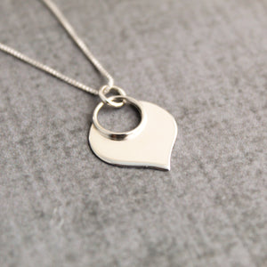 Sterling silver lotus petal necklace, yoga jewelry
