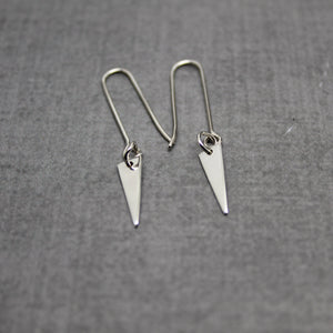 Sterling silver triangle point earrings - Sweet Tea & Jewelry