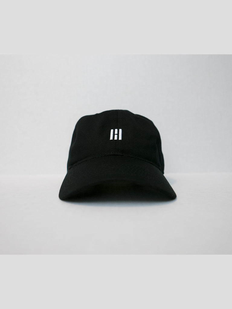 8f9b95d3792 ESSENTIAL 6 PANEL BASEBALL CAP - BLACK – H3 COLLECTIVE