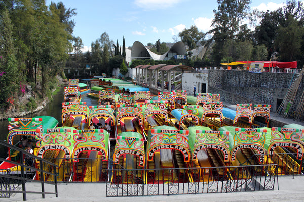 Xochimilco, Mexico City, Floating Gardens, Trajineras, Aztec canals