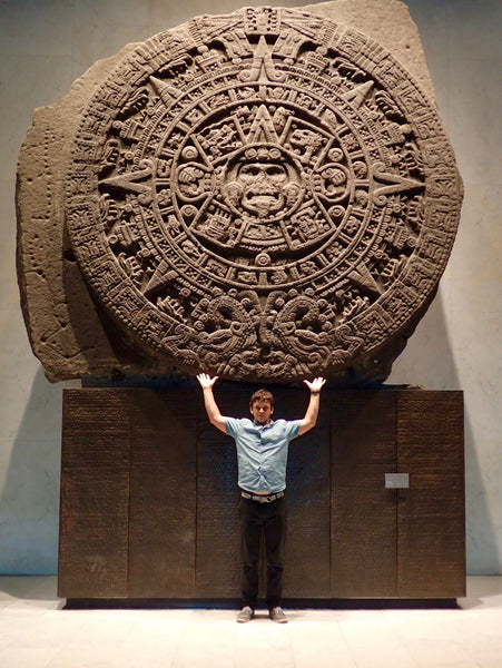 Aztec Calendar, Stone of the Sun, Museo Nacional de Anthropologia, National Anthroplogy Museum, Mexico City, Chapultepec Park
