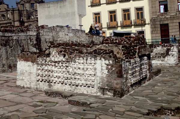 Wall of Skulls, Templo Mayor, The Great Pyramid of Tenochtitlan, Mexico City, Aztec Ruins