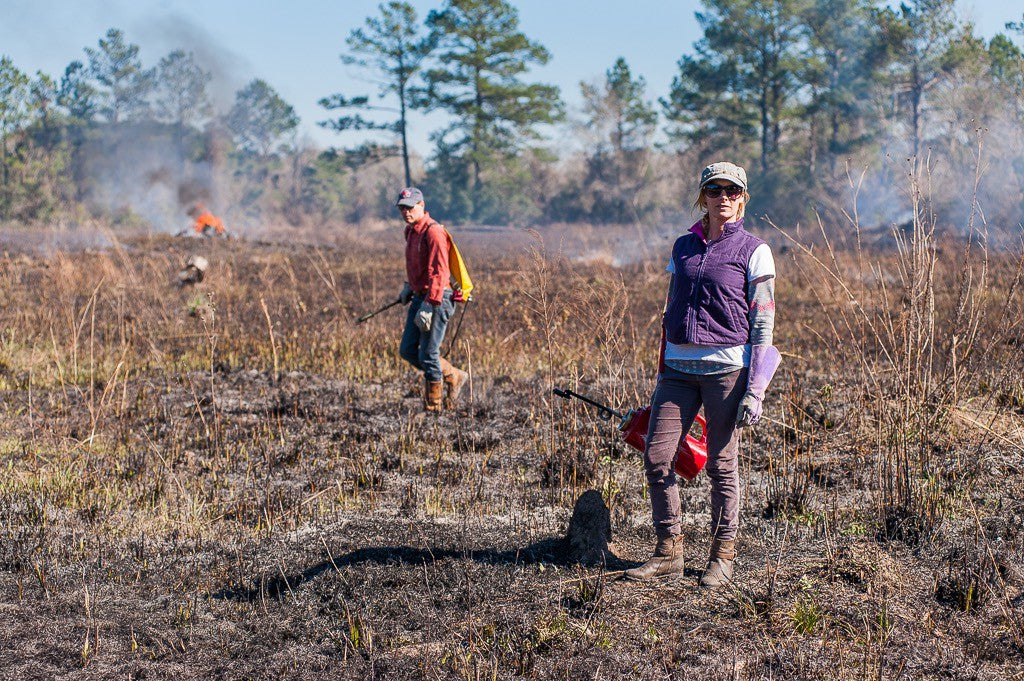 The fire finished in minutes, my brother Chris and I standing in the burned field.