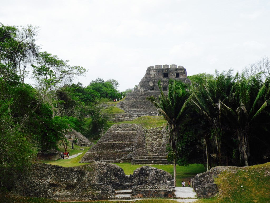 Looking south from Plaza A-2 across A-1 to the largest building, the Castillo.