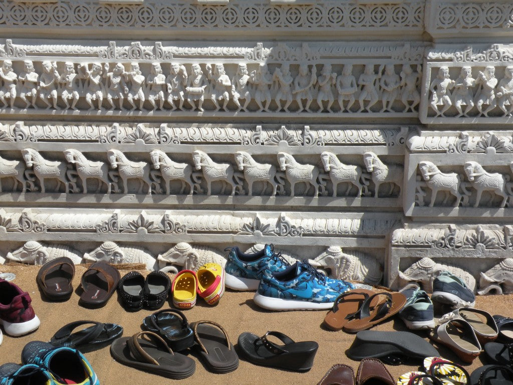 Before Entering the Temple everyone must take off their shoes
