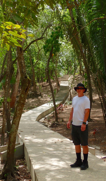 Walking to Cahal Pech, Belize