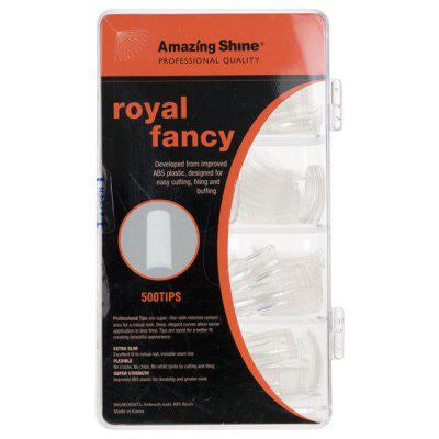 Amazing Shine Royal Fancy Nail Tip Clear 500pk