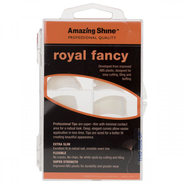 Amazing Shine Royal Fancy Nail Tips Natural 100pk, AS-100N