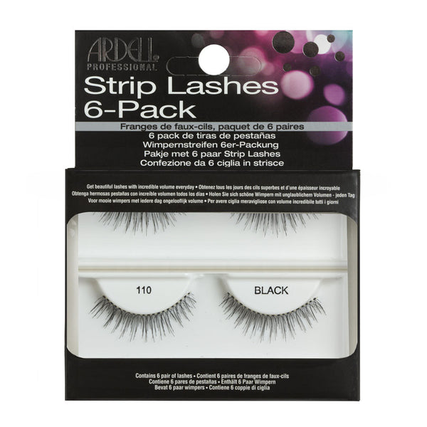 Ardell Strip Lashes 6-Pack 110 Black - 60070