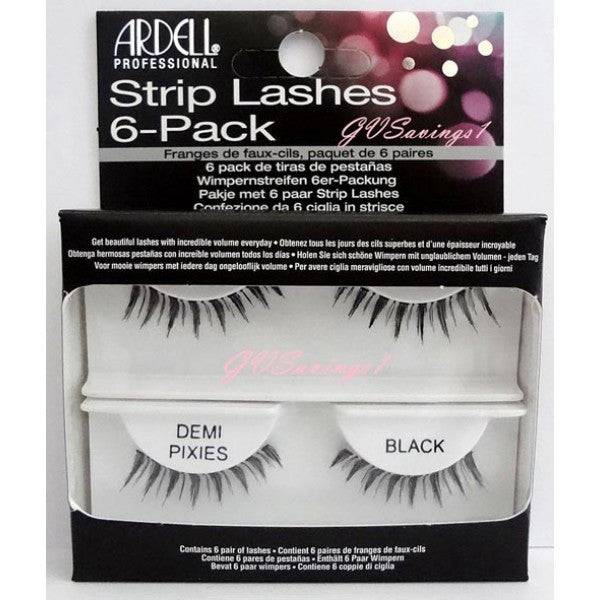 Ardell Strip Lashes 6-Pack Demi Pixies - 60067