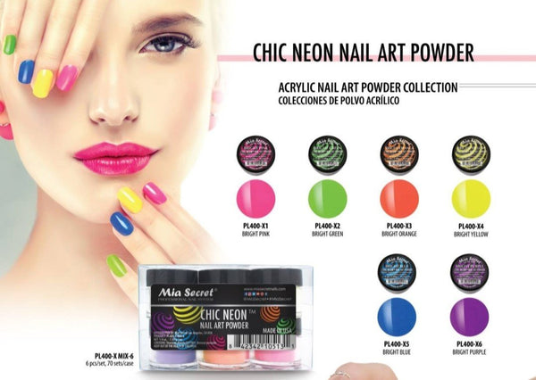 MIA SECRET ACRYLIC NAIL ART POWDER COLLECTIONS 6PK