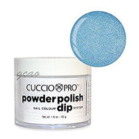 Cuccio Powder Polish 1.6oz Baby Blue Glitter, 5562