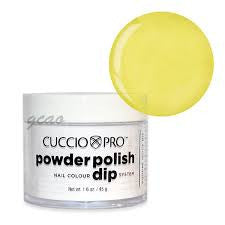 Cuccio Powder Polish 1.6oz Bright Neon Yellow, 5524