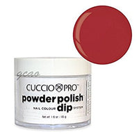 Cuccio Powder Polish 1.6oz Candy Apple Red, 5536