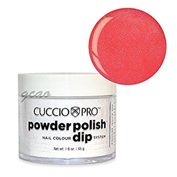 Cuccio Powder Polish 1.6oz Watermelon Pink w Pink Mica, 5547