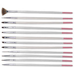 DL Nail Art Brush Set 12pc
