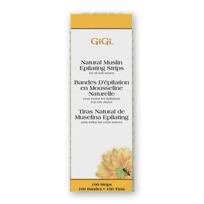 Gigi Natural Muslin Strips Small 100 pk