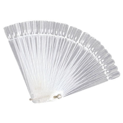 Nail Tip Fan Display Clear 40pc