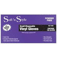 Soft N Style Gloves Disposable Vinyl 100 Small