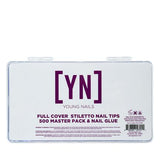 YOUNG NAILS FULL COVER TIPS 500 MASTER PACK