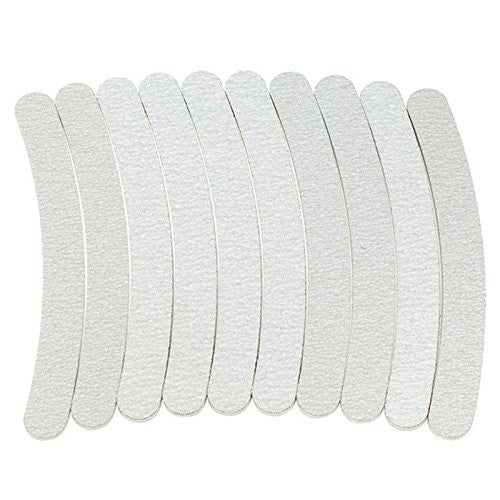Zebra White 180/180 Grit Banana File 12 count, 7ZW18-18B-12