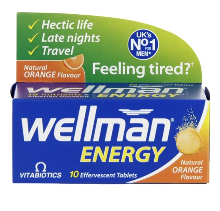 Vitabiotics Wellman Energy Effervescent Tablets (10s)