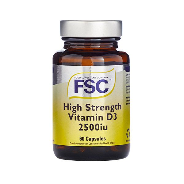 FSC High Strength Vitamin D3 2500iu Capsules