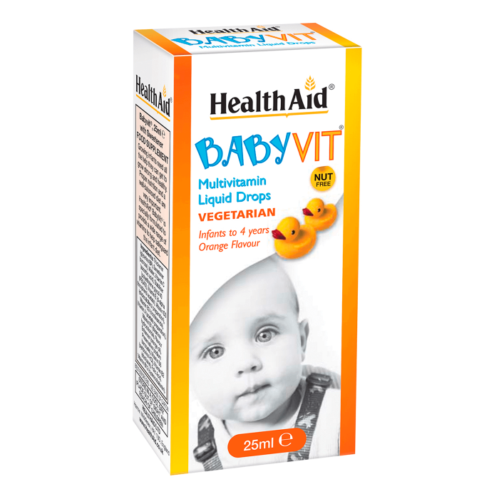HealthAid Baby Vit Orange Flavour Drops (0 to 4 Years) - 25ml