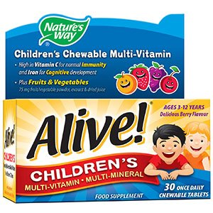 Natures Way Alive! Childrens Chewable Multivitamin Tablets