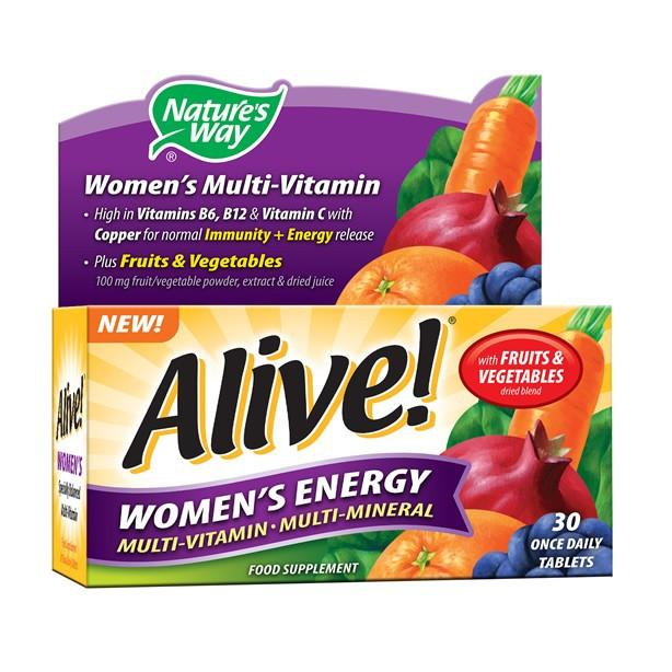 Natures Way Alive! Women's Energy Multi-Vitamin Tablets