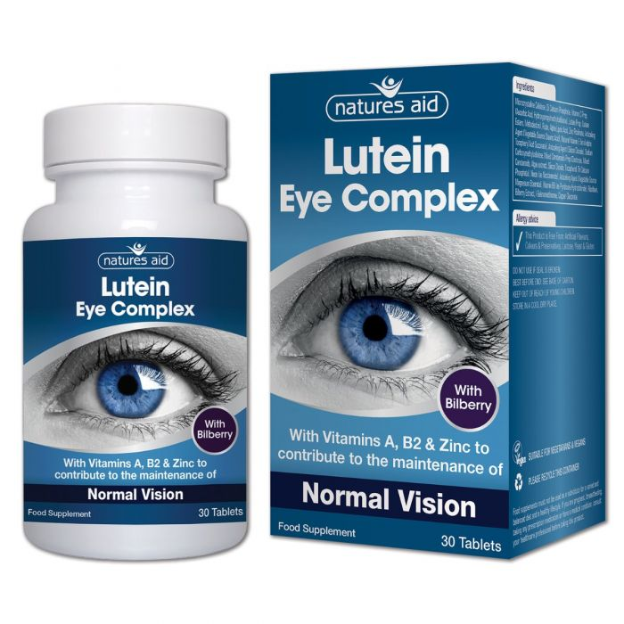 Natures Aid Lutein Eye Complex Tablets