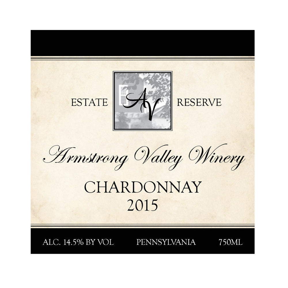 Armstrong Valley Winery Estate Reserve Chardonnay 2015 750ML