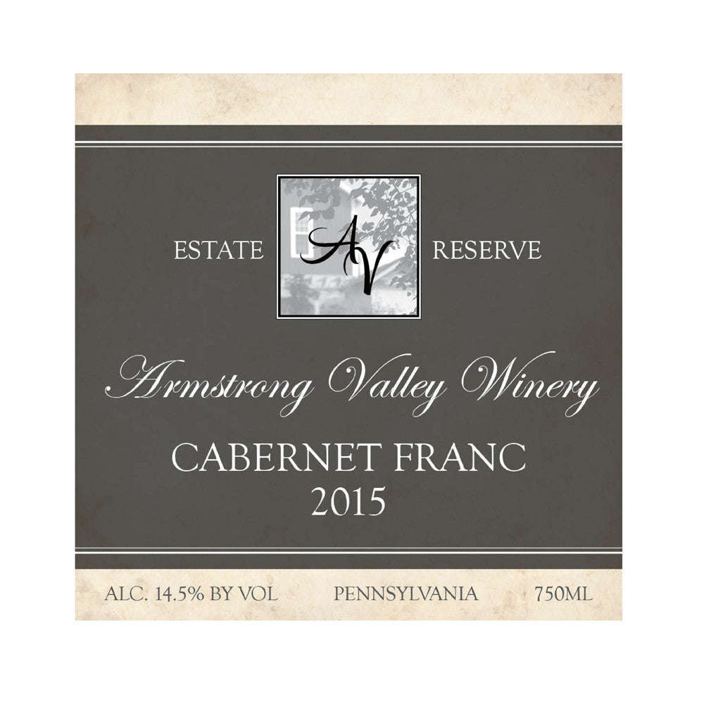 Armstrong Valley Winery Estate Reserve Cabernet Franc 2015 750ML