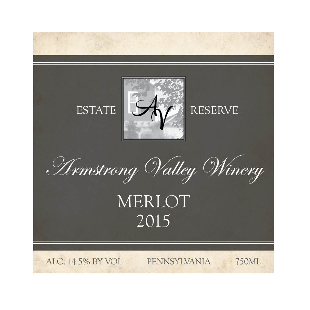 Armstrong Valley Winery Estate Reserve Merlot 2015 750ML